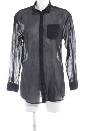 Hugo Boss Transparenz-Bluse schwarz Business-Look