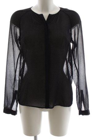 Hugo Boss Transparenz-Bluse schwarz grafisches Muster Elegant