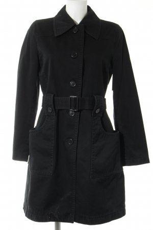 Hugo Boss Trenchcoat schwarz Business-Look