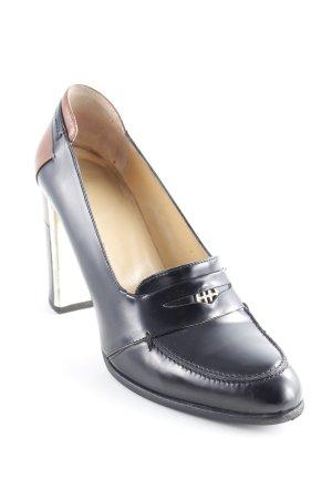 Hugo Boss Loafers zwart-cognac zakelijke stijl