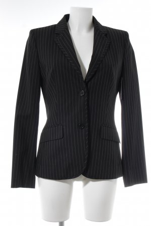 Hugo Boss Tweed blazer zwart-wit krijtstreep zakelijke stijl