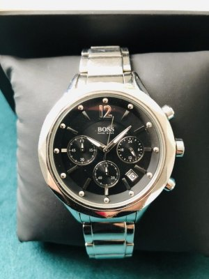 Hugo Boss Watch With Metal Strap silver-colored-black