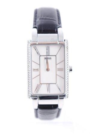 Hugo Boss Watch With Leather Strap black elegant