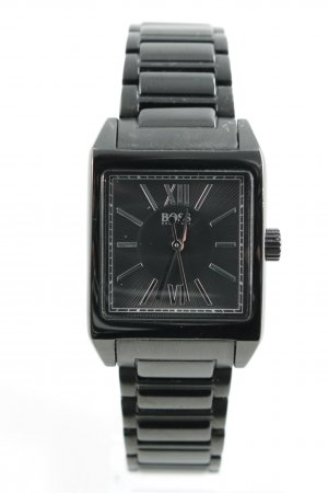 Hugo Boss Uhr mit Metallband schwarz Business-Look
