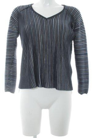 Hugo Boss V-Ausschnitt-Pullover dunkelblau Casual-Look