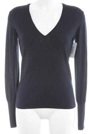 Hugo Boss V-Neck Sweater dark blue casual look