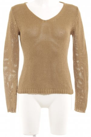 Hugo Boss V-Neck Sweater light brown casual look