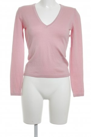 Hugo Boss V-Neck Sweater light pink casual look