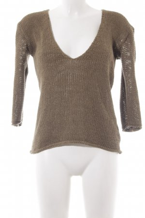 Hugo Boss V-Neck Sweater olive green casual look