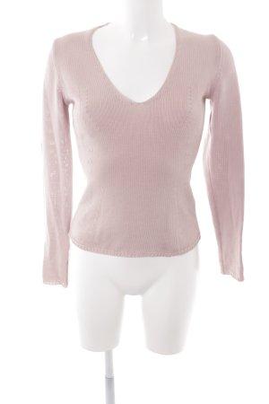 Hugo Boss V-Ausschnitt-Pullover rosé Casual-Look