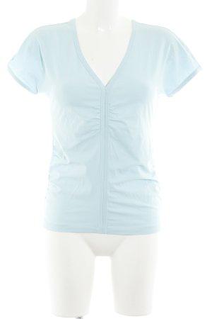 Hugo Boss V-hals shirt babyblauw casual uitstraling