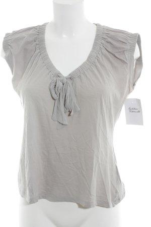 Hugo Boss V-Ausschnitt-Shirt hellgrau Casual-Look