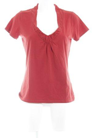Hugo Boss V-Ausschnitt-Shirt rot Business-Look