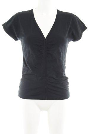 Hugo Boss V-hals shirt zwart casual uitstraling