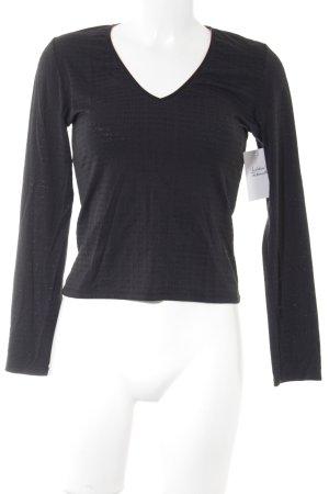 Hugo Boss V-Ausschnitt-Shirt schwarz Casual-Look