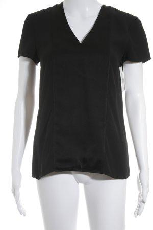 Hugo Boss V-Ausschnitt-Shirt schwarz Elegant