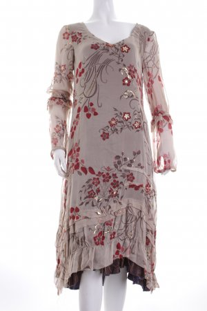 Hugo Boss Volantkleid florales Muster Gypsy-Look
