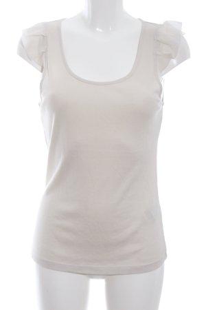 Hugo Boss Flounce Top natural white casual look