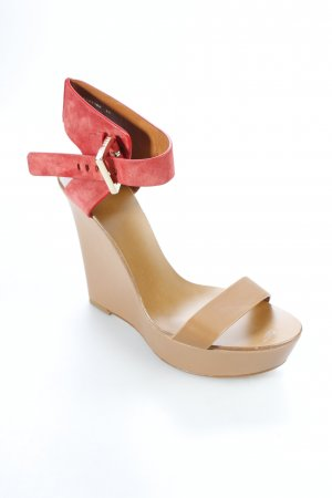 Hugo Boss Wedge Sandals brick red-light brown casual look