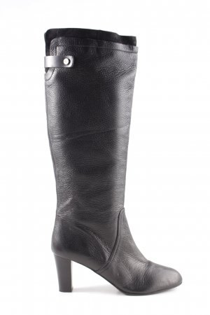 Hugo Boss Bottes à tige large noir style décontracté