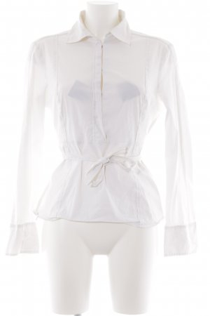 Hugo Boss Wraparound Blouse white business style