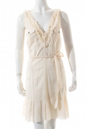 Hugo Boss Wickelkleid creme Casual-Look