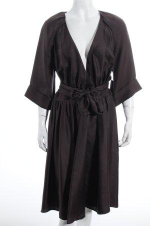 Hugo Boss Wickelkleid dunkelbraun Elegant