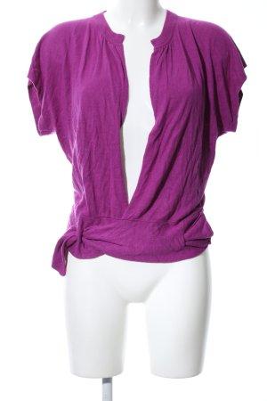 Hugo Boss Wraparound Shirt lilac casual look