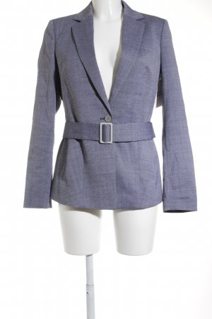 Hugo Boss Woll-Blazer dunkelblau-weiß meliert Business-Look