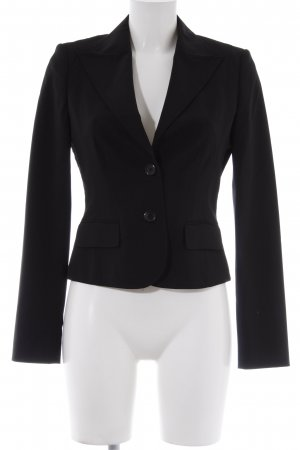 Hugo Boss Woll-Blazer schwarz Business-Look