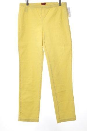 Hugo Boss Pantalon en laine jaune primevère style extravagant