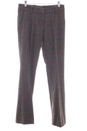 Hugo Boss Wollhose dunkelbraun-rostrot Glencheckmuster Brit-Look