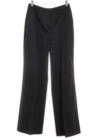 Hugo Boss Pantalon en laine noir motif rayé style d'affaires