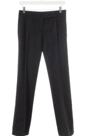 Hugo Boss Wollhose schwarz-weiß Streifenmuster Business-Look