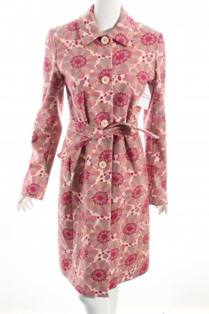 Hugo Boss Wollmantel magenta-rosa florales Muster Casual-Look