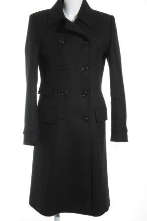 Hugo Boss Cappotto in lana nero elegante