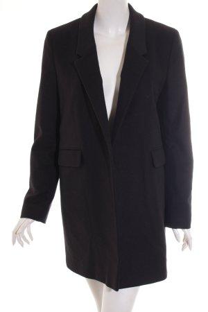 Hugo Boss Cappotto in lana nero stile classico