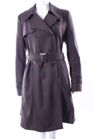 Hugo Boss Cappotto in lana marrone-nero Lana