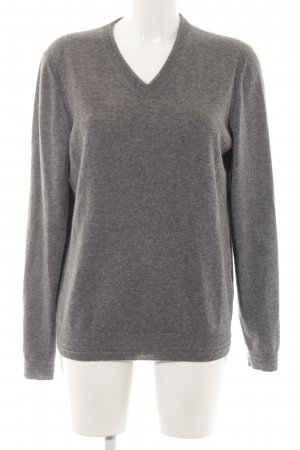 Hugo Boss Wollpullover hellgrau Casual-Look
