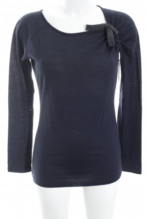 Hugo Boss Wollpullover dunkelblau-grau Casual-Look