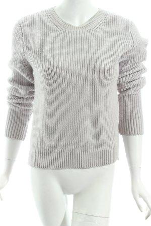 Hugo Boss Maglione di lana grigio chiaro stile casual