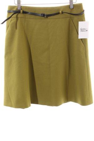 Hugo Boss Wollrock olivgrün schlichter Stil