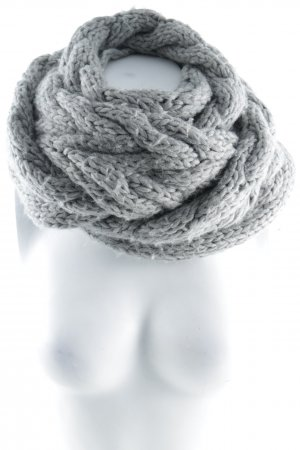 Hugo Boss Woolen Scarf grey loosely knitted pattern fluffy