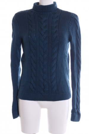 Hugo Boss Cable Sweater blue cable stitch casual look