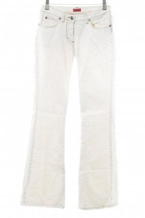 HUGO Hugo Boss Boot Cut Jeans creme Casual-Look