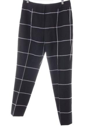 HUGO Hugo Boss Pantalone chino nero-bianco motivo a quadri stile professionale