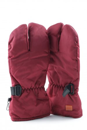 HUGO Hugo Boss Padded Gloves dark red athletic style