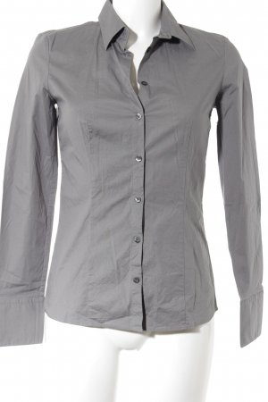 HUGO Hugo Boss Hemd-Bluse grau Business-Look