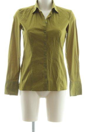 HUGO Hugo Boss Hemd-Bluse olivgrün Business-Look