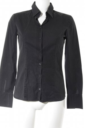 HUGO Hugo Boss Hemd-Bluse schwarz Business-Look